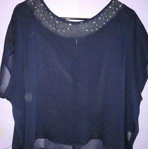 Navy Blue see through shirt 💙